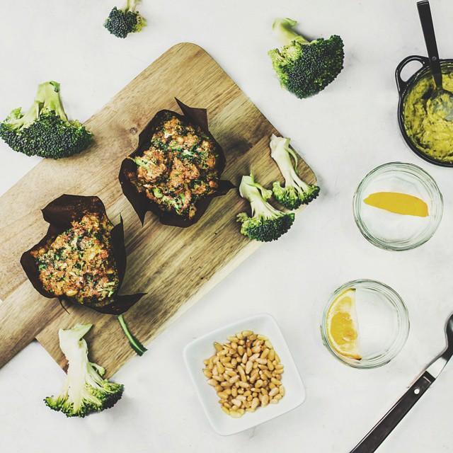 Savory Quinoa & Cheddar Broccoli Muffins