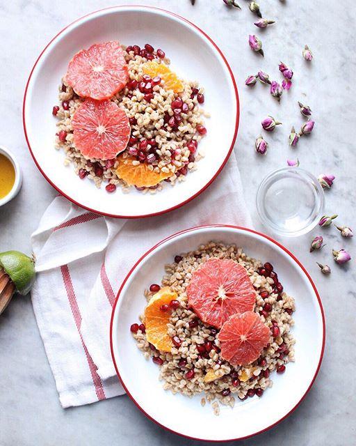 Citrus And Rosewater Farro Salad