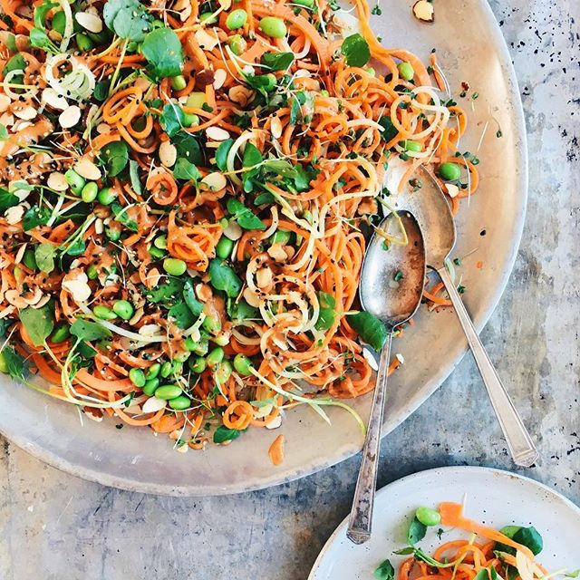 Sweet Potato & Apple Noodle Salad With Miso Dressing