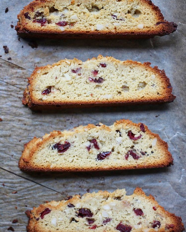 I've got a NEW RECIPE up at Yoga By Candace! I made up some grain-free Almond Cranberry Biscotti and…