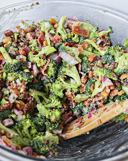 Golden Raisin Bacon And Broccoli Salad By Certifiedpastryaficionado Quick Easy Recipe The Feedfeed