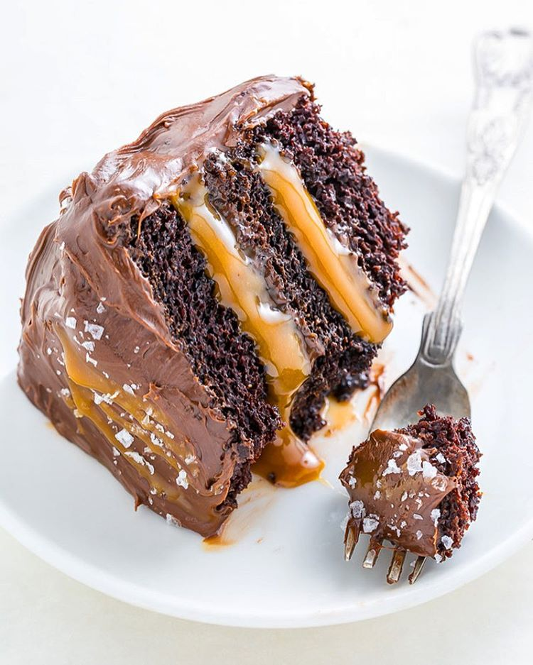 salted caramel chocolate cake chocolate and salted caramel layer cake recipe 7241