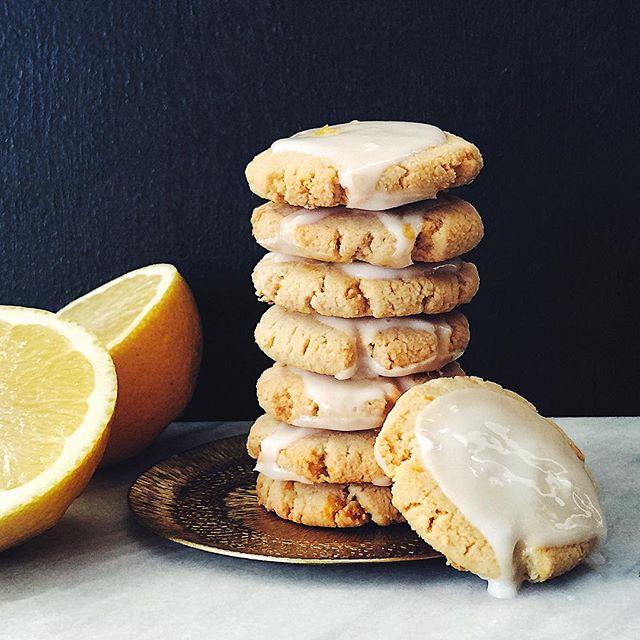 Glazed Lemon Almond Cookies