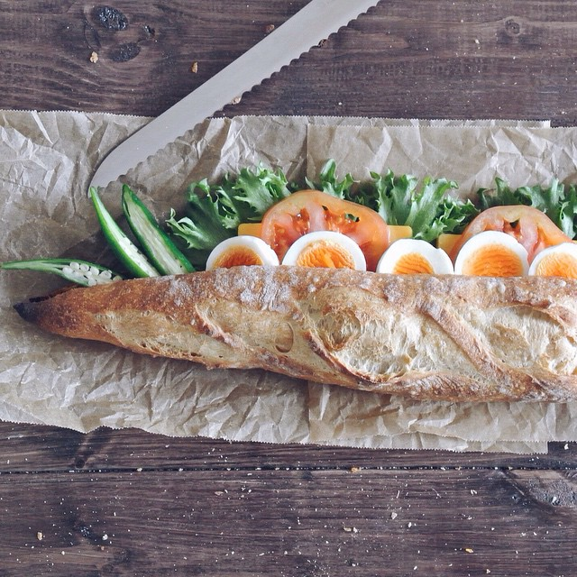 Lettuce/tomato/okra/red Cheddar/egg Sandwich