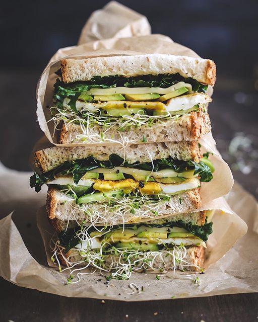 Gouda, Kale And Avocado Egg Sandwich