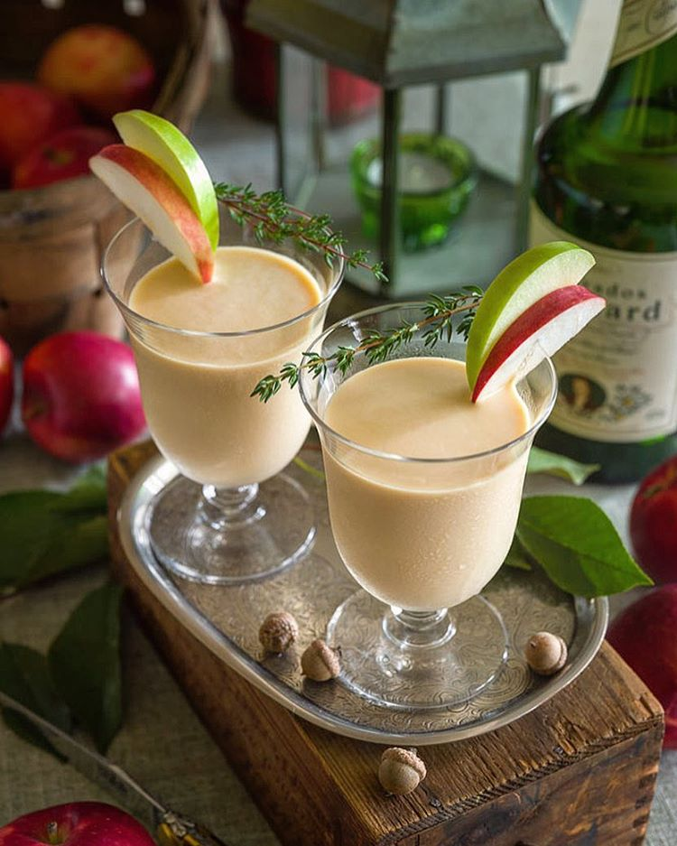 Chai Normandy Cocktail - inspired by the flavors of Normandy, we began with Calvados and cream and…