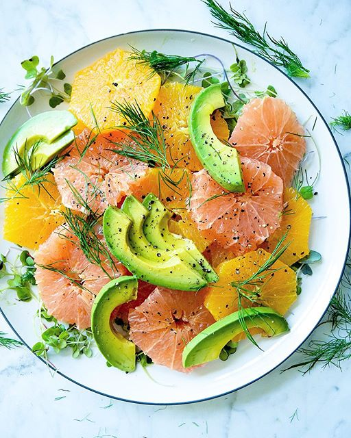 Citrus Avocado and Dill Salad