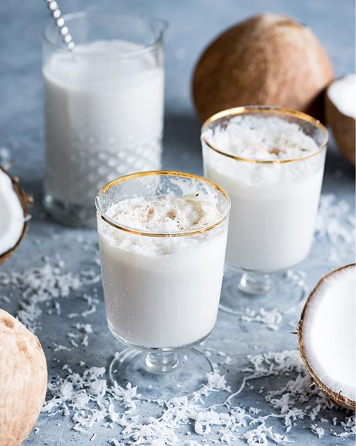 Rum and Coconut Milk Cocktail