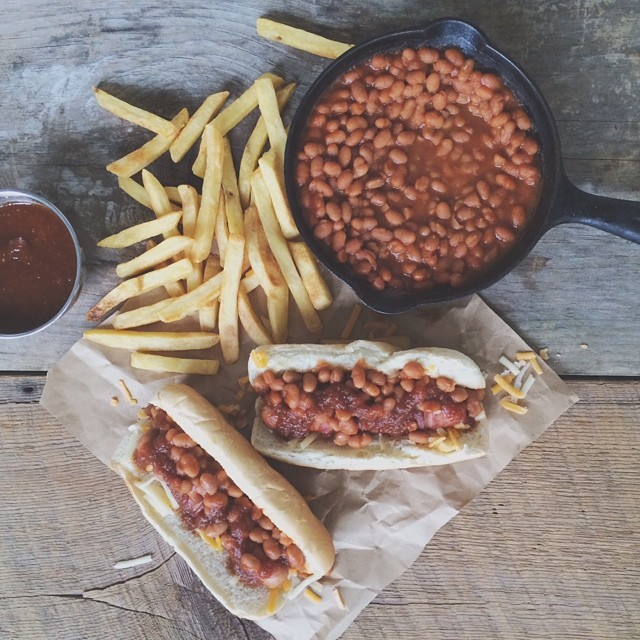 Baked Beans And Bbq Sauce Hot Dogs