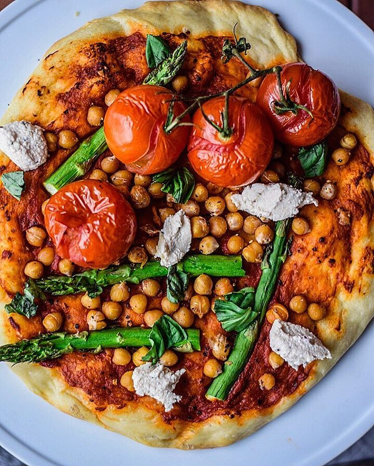 Roasted Chickpea Pizza