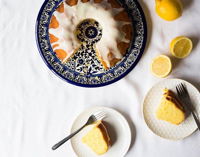 Lemon Olive Oil Cornmeal Cake