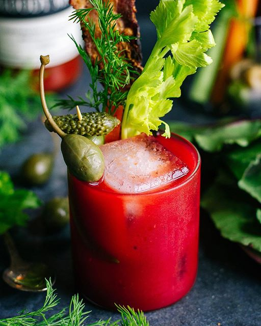 Bloody Mary With Dill And Beet Infused Vodka