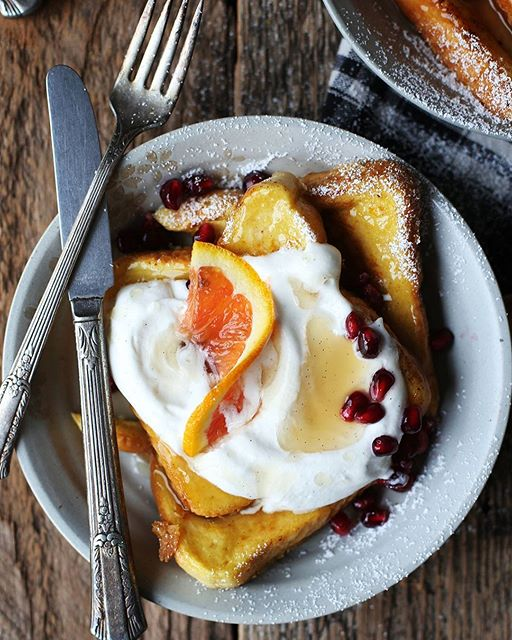 Just dreaming about this blood orange vanilla bean French toast.