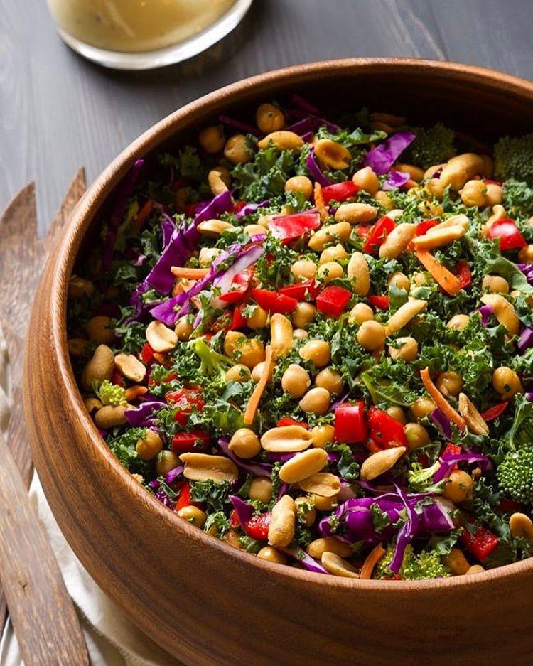 Rainbow Kale And Peanut Salad