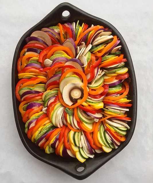 Trying to brighten my mood with this gorgeous rainbow ratatouille. Yeah. I know. More like a…