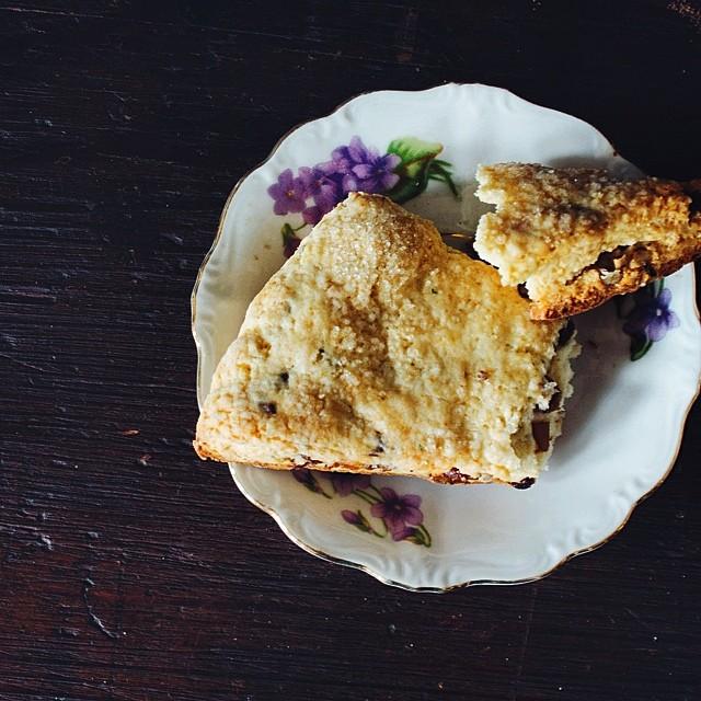 Rosemary, Lavender, Date, & Pecan Scones (gluten-free)