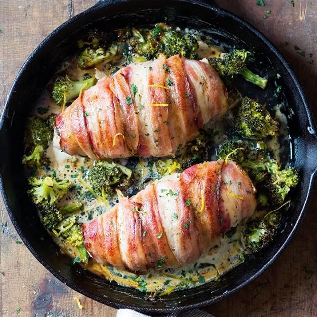 Chicken Breasts With Bacon