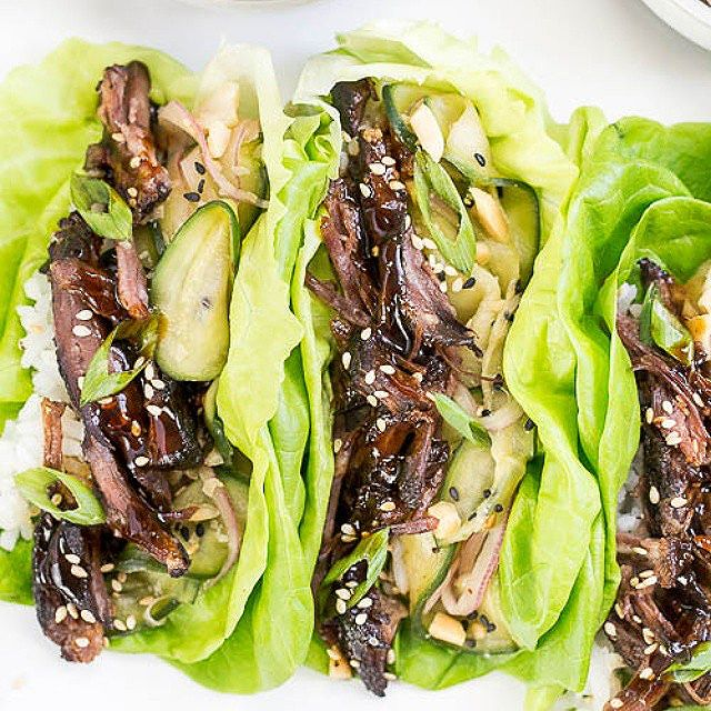 Korean Beef Short Rib Lettuce Wraps