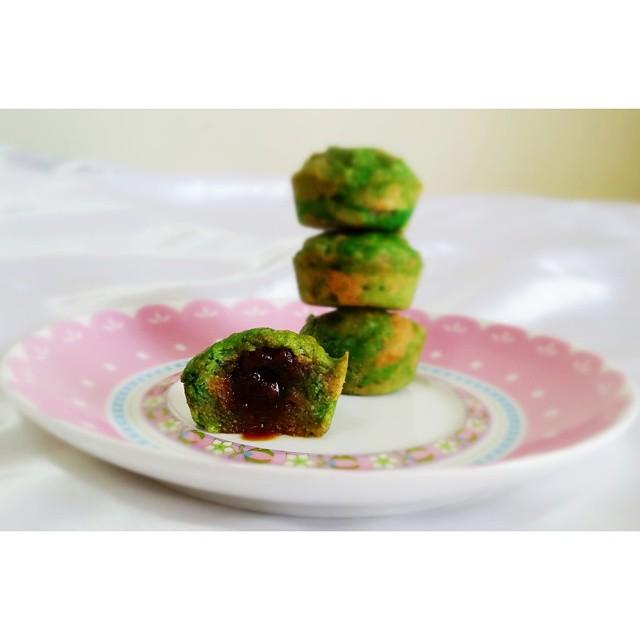 Mini Vegan Pandan Banana Cupcakes / Muffins