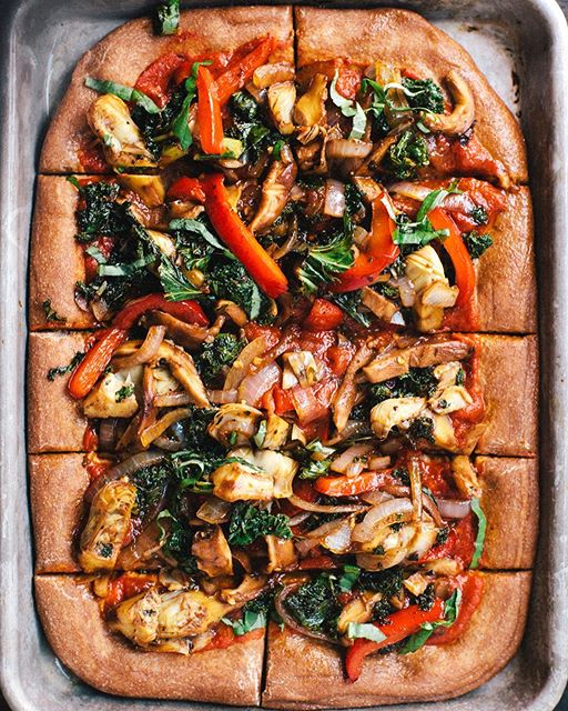 Pizza With Roasted Veggies