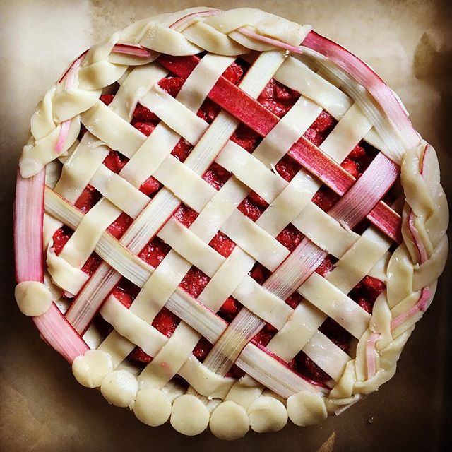 Strawberry Rhubarb Lattice Pie