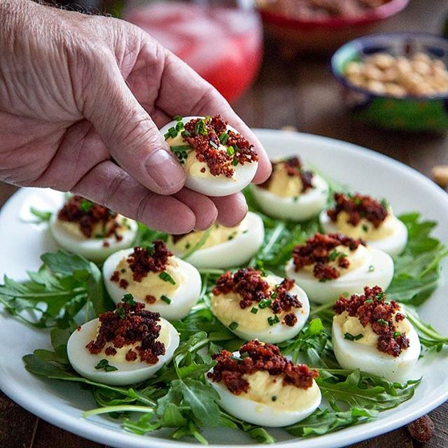 These Crispy Chorizo Deviled Eggs are deliciously smoky in flavor and get a boost in creaminess from…