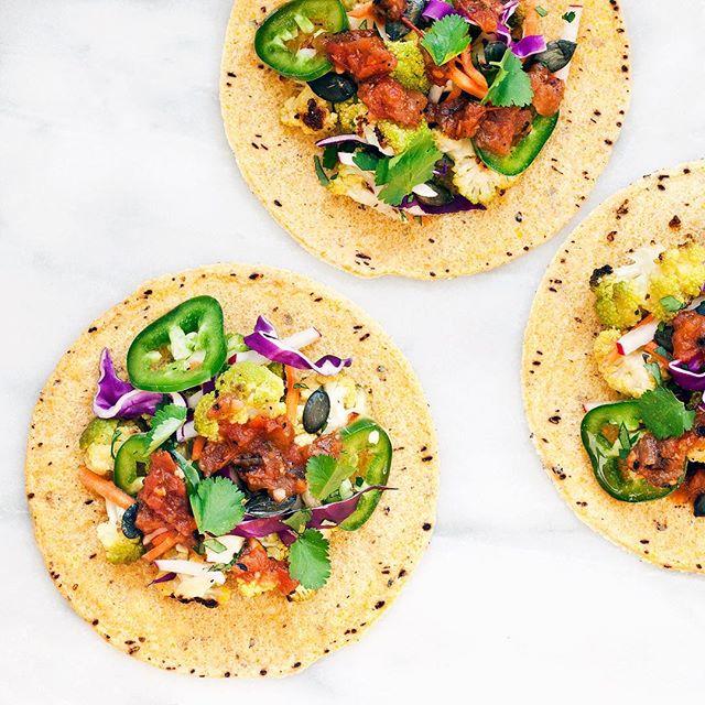 Rainbow Roasted Veggie Tacos