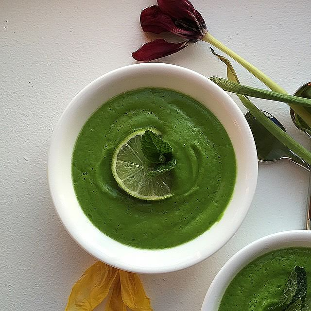 Chilled Green Pea+mint Soup