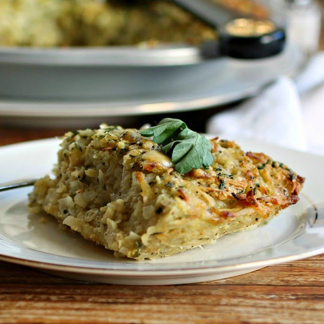 Potato And Parsnip Kugel With Gruyere Cheese