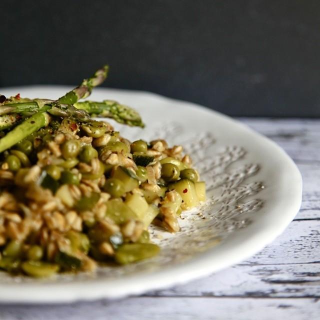 Summer Vegetable & Farro Risotto