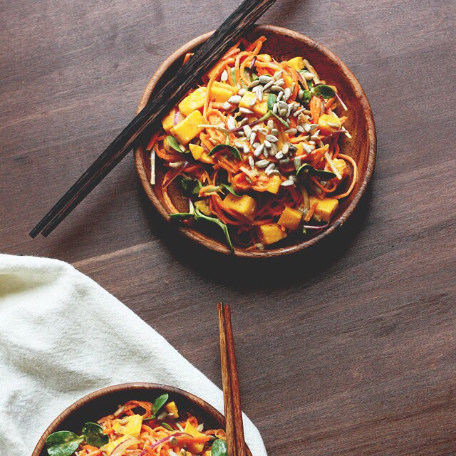 Spicy Peanut Carrot Noodles