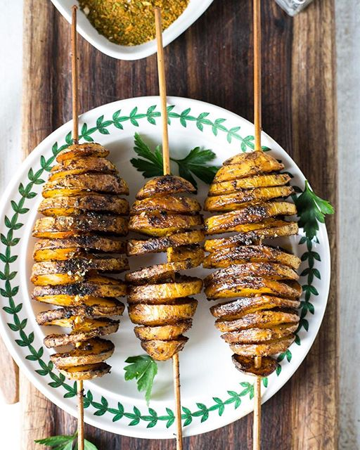Spiced Roasted Spiral Potatoes