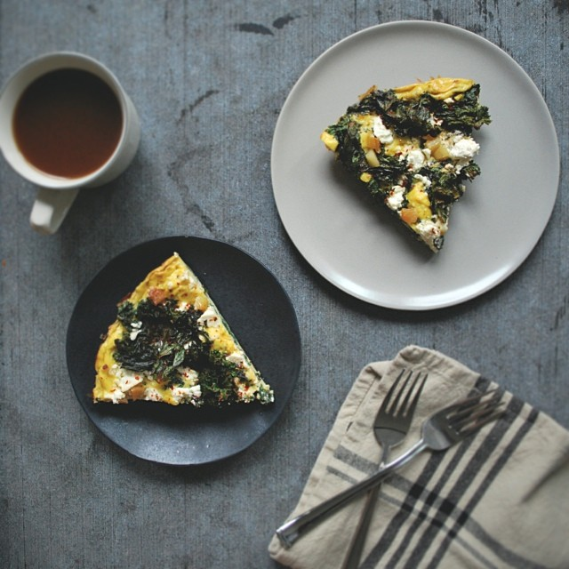 Spicy Kale And Harissa Frittata