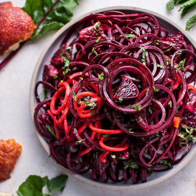My spiralized beet salad with blood oranges would make a refreshing & healthy addition to your…