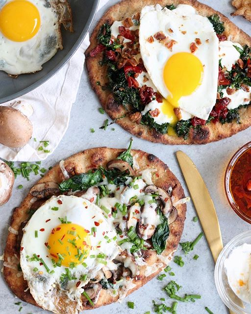 If I could have these naan pizzas for breakfast every Monday, I'd be the happiest girl ??? Today on…