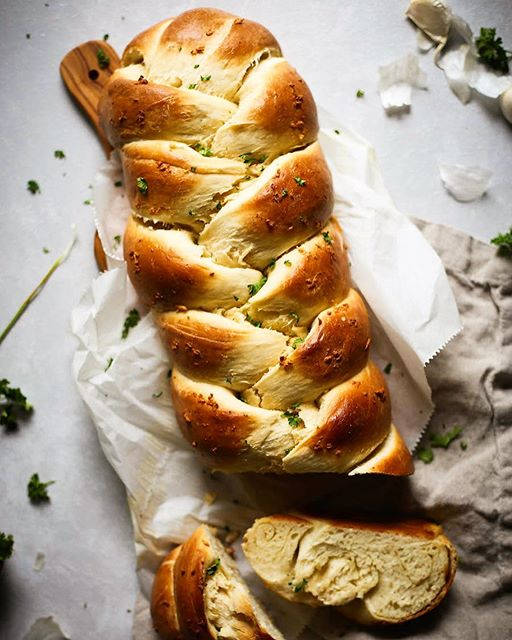 Garlic Challah Bread By Feast And Fable Quick Easy Recipe The Feedfeed