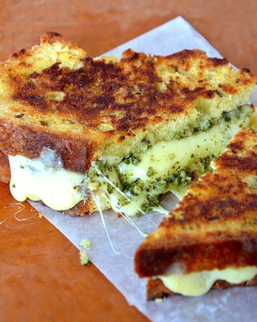Irish Soda Bread + Pesto Grilled Cheese