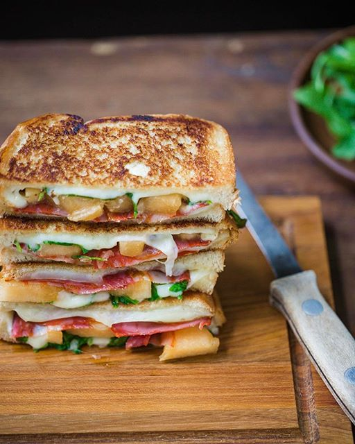 Chorizo + Melon Grilled Cheese