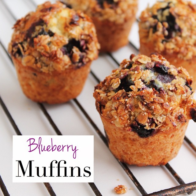 Blueberry Muffins With Oat Streusel