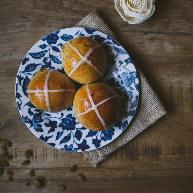 Coconut Hot Cross Buns