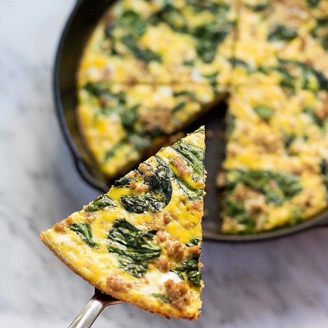 Spinach And Beef Frittata