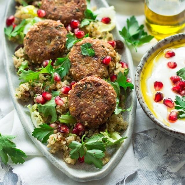 Falafel & Quinoa Salad