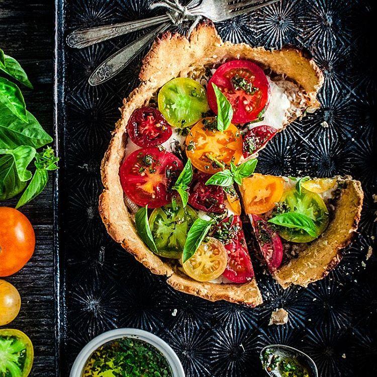 Paleo Heirloom Tomato Tart