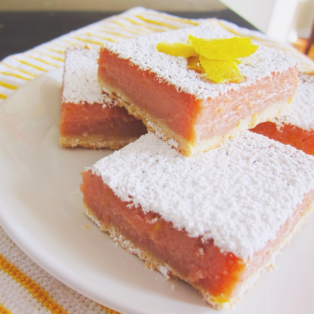 Strawberry Lemonade Ricotta Bars