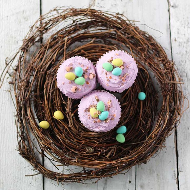Vanilla Cupcakes With Coconut Lavender Cream