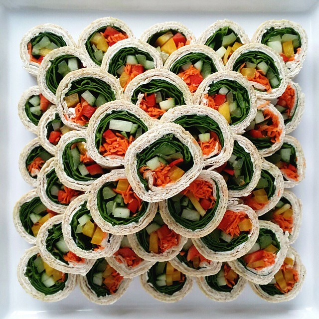 Veggie Pinwheels Platter