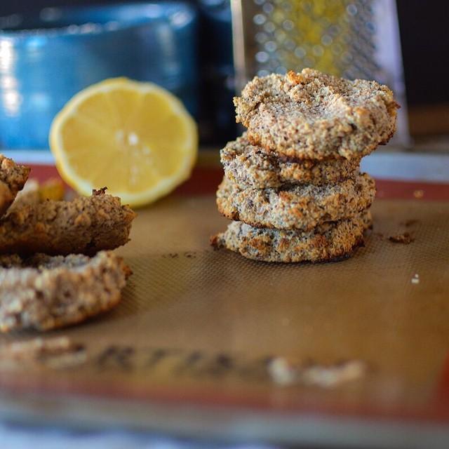Lemon Poppyseed Breakfast Cookies