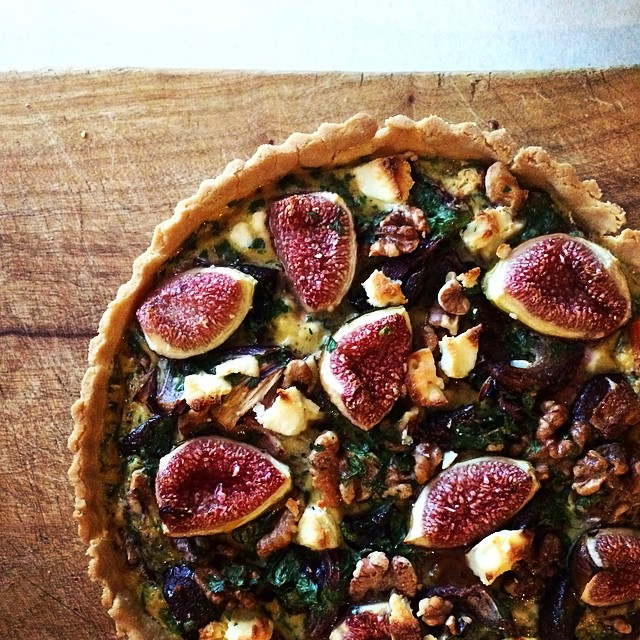 Roasted Fig, Pumpkin & Goat Cheese Tart