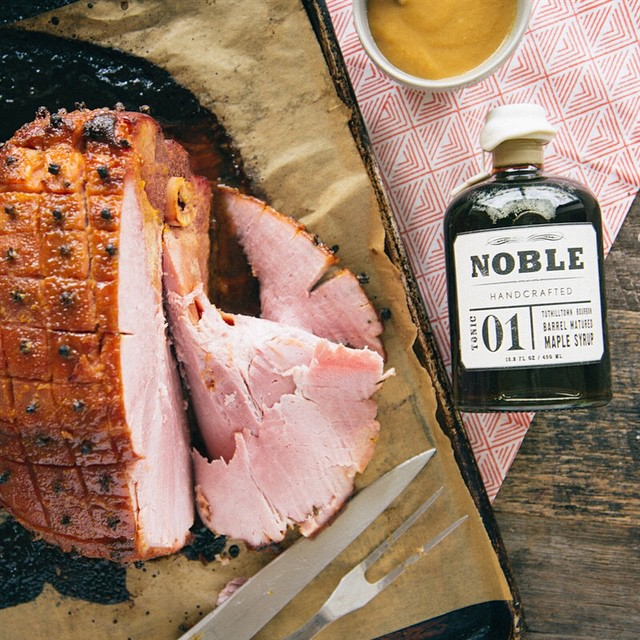 Bourbon And Mustard Glazed Ham