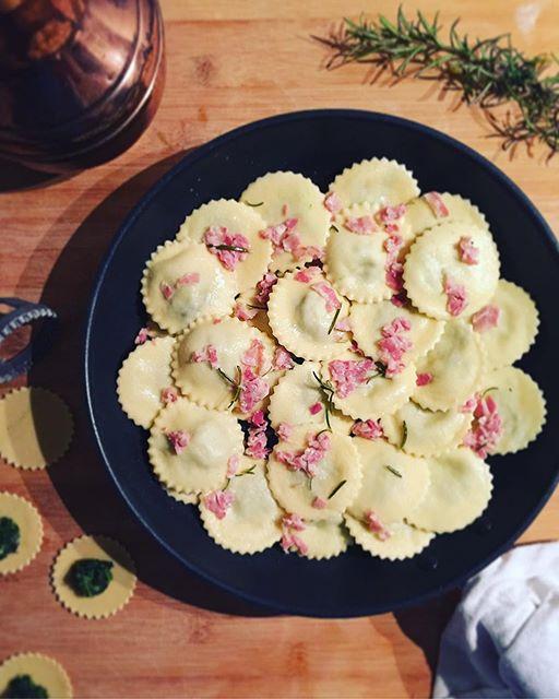 Kale And Pancetta Ravioli